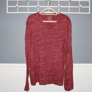 Heathered Red knit long sleeve
